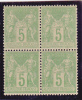 SAGE - YVERT N°102 **/* -  En BLOC De 4  - COTE = 155++ EUROS - - 1898-1900 Sage (Type III)