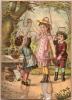 """Chromolithographie/Puzzle /""""La  cueillette des cerises""""/ vers 1870-80  JE2"""