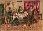 """Chromolithographie/Puzzle   /""""Sc�ne de Famille""""/ vers 1875-85  JE3"""