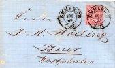 ALLEMAGNE DU NORD LETTRE DE EMMERICH 1869 - Norddeutscher Postbezirk (Confederazione Germ. Del Nord)
