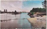 39. Cpsm. Pf. CHAUSSIN. Le Doubs En Aval Du Pont Du Chemin De Fer - Francia