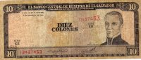 El Salvador 1996, 10 Colones, P144, VF - El Salvador