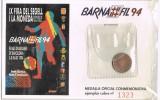 Medalla BARNAFIL 94.  Barcelona. Cobre. Futbol Barça - España