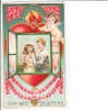 Embossed Valentine Day Cupid To My Sweet Children In Window Fire - Valentine's Day