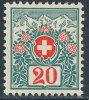 SWITZERLAND 1910 POSTAGE DUES 20 CENT SC# J40 VF  MNH SCARCE KEY STAMP - Svizzera