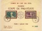 Comité Arts Des Fêtes 1ere Coupe Philatéliste - France
