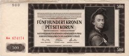 Bohemia & Moravia 500 Korun 1942 P 11 S Specimen UNC - Cecoslovacchia