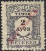 Timor 1911 Scott # J-12 Mint Issued Without Gum (cat # Writen On Reverse) - Timor
