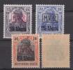 Militärverw.in Rumänien,Nr.1-3,postfrisch,Nr.3 Gep. Hey BPP - Besetzungen 1914-18