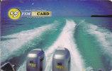 Micronesia, FSM-R-006, A Yacht In The Sea, 2 Scans. - Micronésie