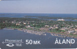 Aland, MD-008,View Over The Eastern Harbour Of Mariehamn, 2 Scans. - Aland