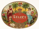 "Chromo/Boite De Cigares/""Select""/Allégori Es Bruxelles/vers 1920-1930 ?       CIG3 - Etichette"