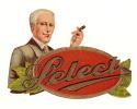 """Chromo/Boite De Cigares/""""Select""""/ /vers 1920-1930 ?       CIG4 - Etichette"""