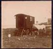 14 ( Calvados) LUC-sur-MER Photo Stéréoscopique ROULOTTE Forains Romanichels Tziganes 1908 - Photos Stéréoscopiques
