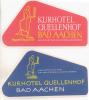 2 ETIQUETTES HOTELS ALLEMAGNE - BAD AACHEN - Etiketten Van Hotels