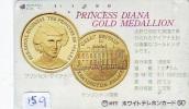 Télécarte JAPON * PRINCESS DIANA (159) LADY DI * Phonecard Japan  * GOLD MEDALLION - Personnages
