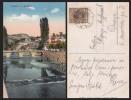 BOSNIA SARAJEVO RIVER MILJACKA BRIDGE OLD POSTCARD - D21094 - Bosnie-Herzegovine