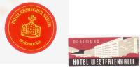 2 ETIQUETTES HOTELS ALLEMAGNE - DORTMUND - Etiketten Van Hotels