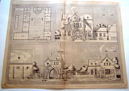 ARCHITECTURE-Ancienne Planche- Ferme De Moyenne Exploitation. - Architecture