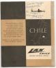 LAN CHILE - LINEA AEREA NACIONAL De CHILE- 1959 DESPLEGABLE En 6 PARTES - Interior MAPA De CHILE Con Rutas De  0.90 Cm - Werbung