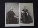 Couple D´une FAMILLE JUIVE D´ALSACE - Isidore Et Louise BICKART Née BLOCH - Ca 1860 - CDV Colmar Et Nancy - Clichés TOP! - Non Classificati