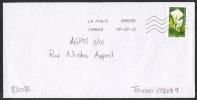 TIMBRE FLEUR  AUTOCOLLANT DE CARNET - Marcophilie (Lettres)