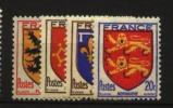 France : N° 602 à 605   Neuf **luxe Cote Y&T   3,20  €uro  Au Quart De Cote