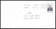 Timbre De Feuille  GASTON MONNERVILLE - Marcophilie (Lettres)