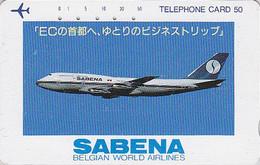 Télécarte Japon - AVION / SABENA Belgique - JAPAN Phonecard BELGIUM - FLUGZEUG Telefonkarte - 200 - Avions