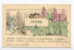 Carte Postale à  Colorier. Mois De L´ Année. - Altri
