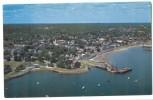 USA, Aerial View Plymouth Harbor, Massachusetts, Unused Postcard [P8609] - United States