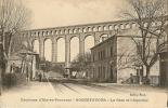 CPA 13 ROQUEFAVOUR LA GARE Et L´AQUEDUC Environ D´AIX BEAU PLAN - Gares - Sans Trains