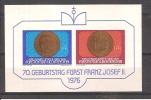 LIECHTENSTEIN /  Bloc N° 13 Neuf** 1er Choix  Franz JOSEPH II 70 ème Anniversaire  // Prix Fixe 0.60 Euro. - Blocs & Feuillets