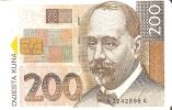 TARJETA DE CROACIA CON UN BILLETE DE 200 KUNA (BANKNOTE) - Sellos & Monedas