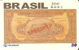 TARJETA DE BRASIL CON UN BILLETE DEL AÑO 1924  (BANKNOTE) - Sellos & Monedas