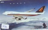 Télécarte Japon * AVION (1478) SINGAPORE AIRLINES * AIRLINES * AIRPORT * AIRPLANE *  PHONECARD * JAPAN * FLUGZEUG - Avions