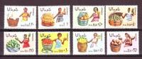 SOMALIA REPUBBLICA 1968 PRODOTTI AGRICOLI SOMALI  8 Valori Completa MNH** - Agriculture