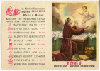 CARTOLINA CALENDARIO MISSIONI FRANCESCANE SAN FRANCESCO ANNO 1961 - Calendriers