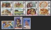 Lesotho 1980 // Série Courante De 1976 Surchargé // 11v Neufs // Mnh - Lesotho (1966-...)