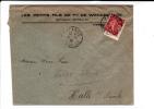 1928 - SEMEUSE PERFORE W.H (WENDEL) De HAYANGE (MOSELLE) Sur ENVELOPPE Pour HALLE (GERMANY) - France