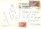 Marcophilie - Italie - Italia Battaglia Ventimiglia 1951 Avec Timbre Taxe 10f - Machine Stamps (ATM)