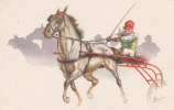 CARD CAVALLI TROTTO TROTTING RACES  FIRMATA  F. CENNI  -FP-N-2- 0882-13515 - Caballos