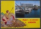 CPA 34 CARNON HUMOUR ENFIN EN VACANCES ILLUSTRATEUR VIGNO ? Voyagee - France