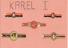 Bagues De CIGARES / LOT De 4 Bagues + 1 En Double Offerte Marque KAREL 1 Collées Sur Carton Poids 10 Grammes - Cigar Bands