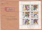 Contes  - Allemagne - République Démocratique - Lettre Recommandée De 1969 ° - Valeur 50 Euros - Halle - Märchen, Sagen & Legenden