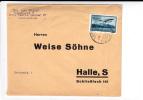 ROUMANIE - 1933 - ENVELOPPE COMMERCIALE De BUCAREST GARE Du NORD Pour HALLE (GERMANY) - Aéreo