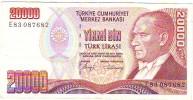 Billet TURQUIE - 20000 Lirasi SUP - Türkei