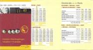 Horaire De Poche - Thalys - 04/09/2005 - Europe