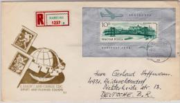 HUNGARY - 1965 - BLOC 45 Sur ENVELOPPE RECOMMANDEE De MABEOSZ Pour La RFA
