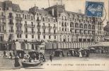 14 - CABOURG - CPA - La Plage - Vue Vers Le Grand Hôtel - Vue Animée - Circulée 1920 - Cabourg